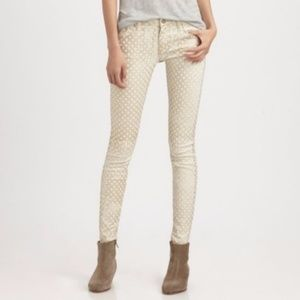 Mother | 31 The Looker Creme De Love Skinny Gold